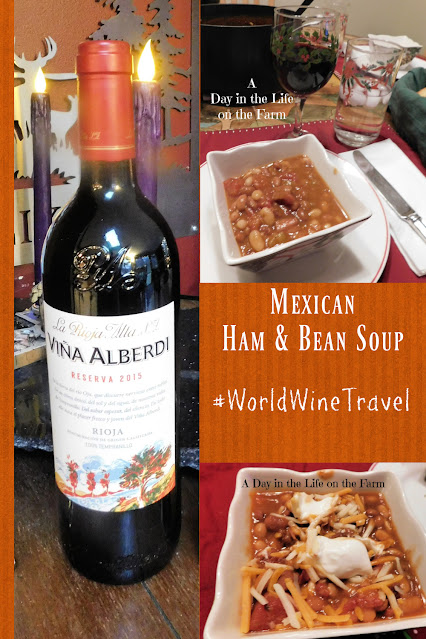 Mexican Ham Soup and Spanish Rioja Wine pin