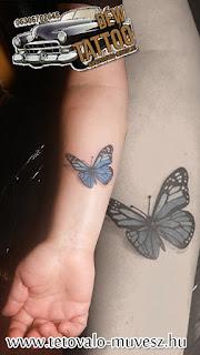 3d pillangó tetoválás Déw art