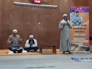 Satu jam Ngaji Bersama Polisi di Masjid Baiturrahman, Jalan Nyiur, Pondok Kelapa, Duren Sawit