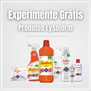 Experimente Grátis Brinde Grátis Produtos Lysoform