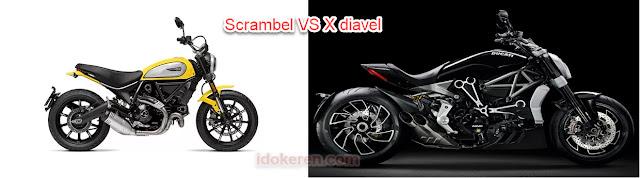 X diavel dan Scrambel