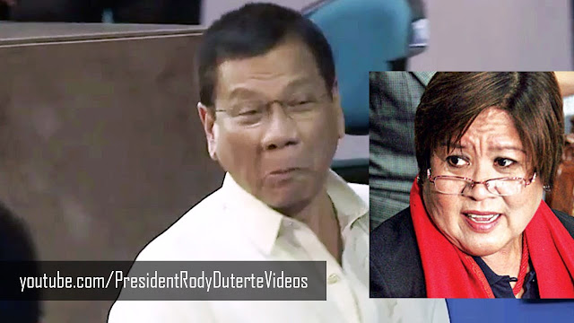 De Lima reacts to Duterte 'funny face'