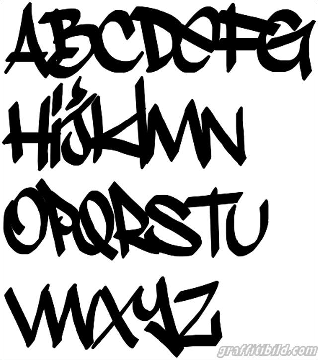 Cool graffiti letters, graffiti schrift abc