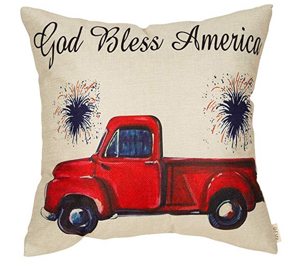 God Bless America Truck Pillow
