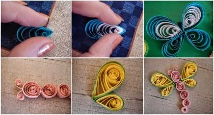 artesanato feito com tiras de papel