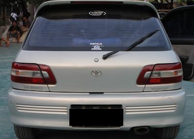 Eksterior Toyota Starlet Kapsul Tipe SE-G Turbo Look
