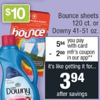 bounce cvs deals