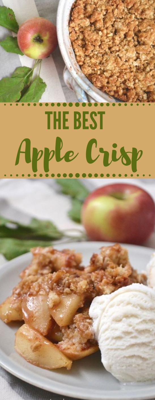 PERFECTLY CRUMBLY APPLE CRISP #bars #dessert #cake #apple #crips