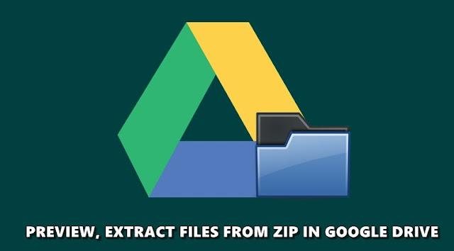 Compress Decompress In Google Drive