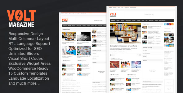 Free Download Volt V3.4 Magazine / Editorial WordPress Theme
