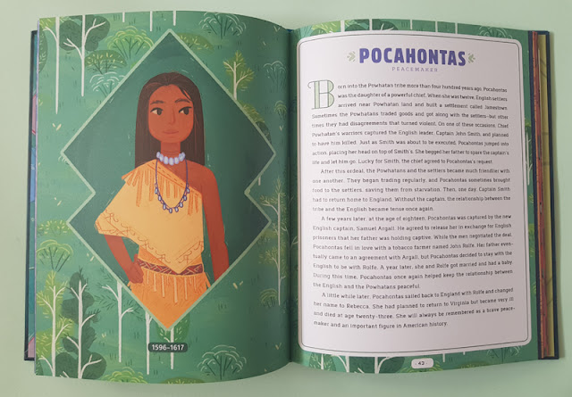 The story of Pocahontas in the Never too Young! children's book