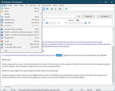 Balabolka 2.15.0.792 Portable - Convertir cualquier archivo de texto a audio en mp3 y más formatos