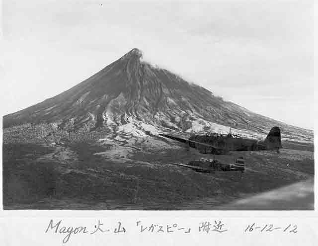 Kate bombers over Mayon Volcano, 12 December 1941 worldwartwo.filminspector.com