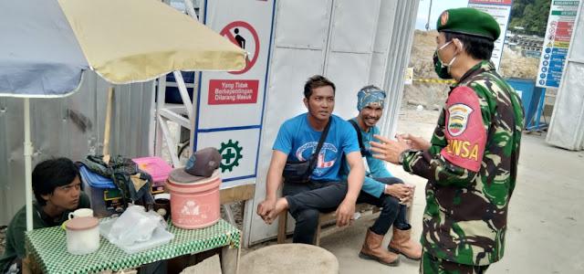 Kodim 0207/Simalungun Melalui Koramil 03/Siantar Selatan Laksanakan Komsos Edukasi Covid-19 Kepada Warga Binaan
