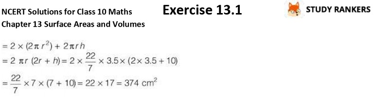 NCERT Solutions for Class 10 Maths Chapter 13 Surface Areas and Volumes Exercise 13.1 Part 7