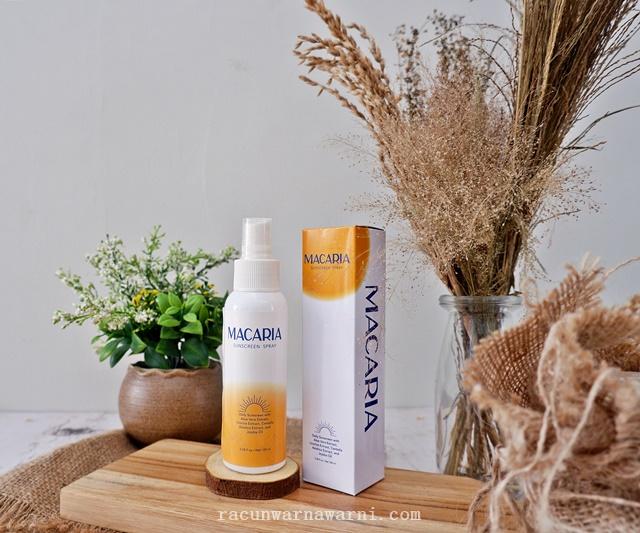 Review Macaria Sunscreen Spray, Sunspray Lokal Dengan Tekstur Nyaman!