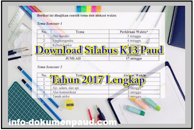 Contoh Silabus TK 2017 Hasil Revisi - Info Dokumen Paud