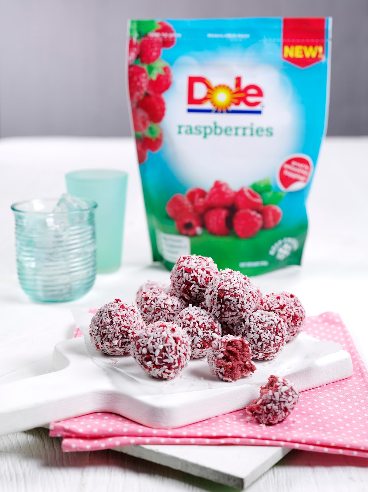 How To Make Raspberry Coconut Energy Balls