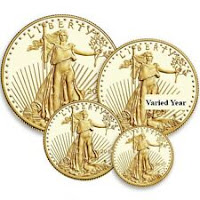ON SALE! 4-Coin Proof American Gold Eagle Set (Varied Year, Box + CoA)