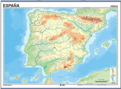 Mapa Hidrografico De España Mudo.Recursos Infantiles Mapas