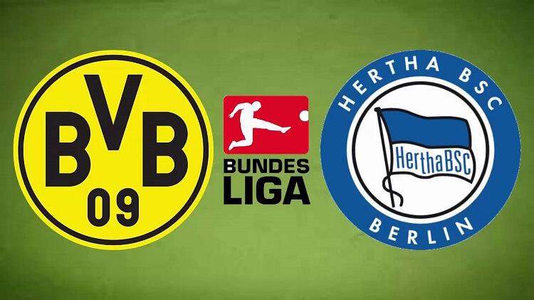 Watch the Borussia Dortmund vs Hertha Berlin live match broadcast live today 13-3-2021 in the German League