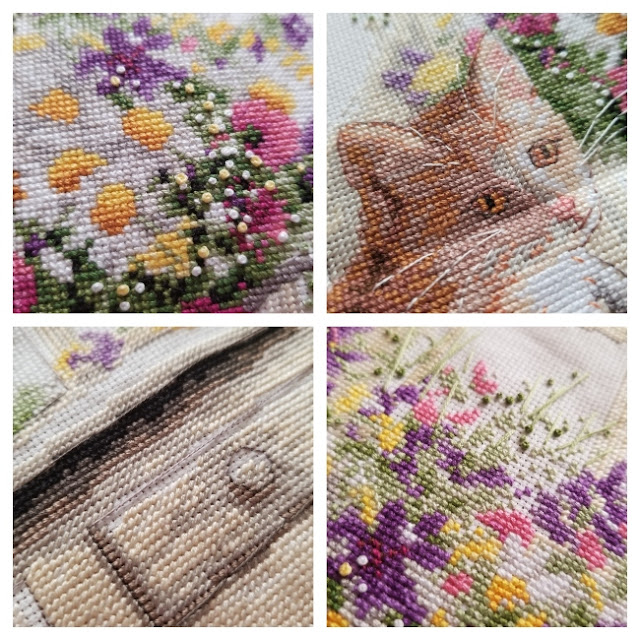 Kitten Cross Stitch Close Up