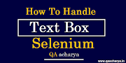 How to Handle Text Box in Selenium using java