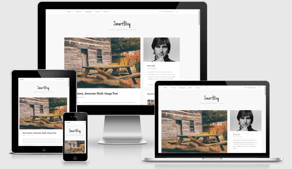 Smartblog - Resonsive Personal Blog Blogger Template