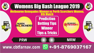 WBBL 2019 PSW vs MRW 8th Today Match Prediction Womens Big Bash League 2019