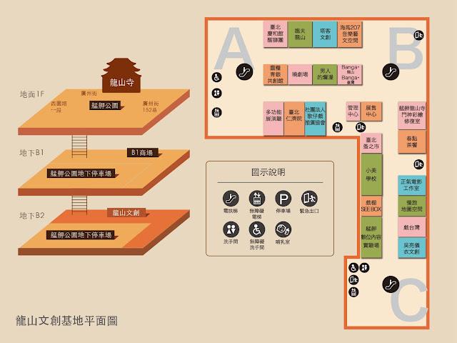 【大叔生活】龍山文創基地,台北市的文創新態度 - 龍山文創基地平面圖,園區腹地比想像中大