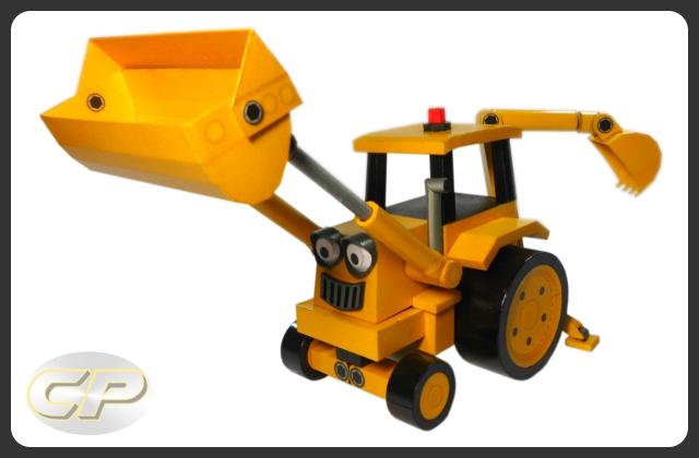 Scoop from Bob the Builder Paper Model Download