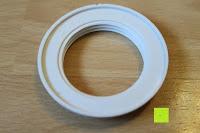 Schraubring: kwmobile E27 Lampenfassung 3,5m Weiß - Netzkabel mit Schraubring Schalter - Lampenhalter und Kabel - Pendelleuchte - Lampenaufhängung - Hängeleuchte