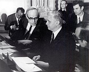 K.Rahner y J.Ratzinger en el Concilio
