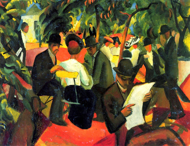 Reading And Art August Macke