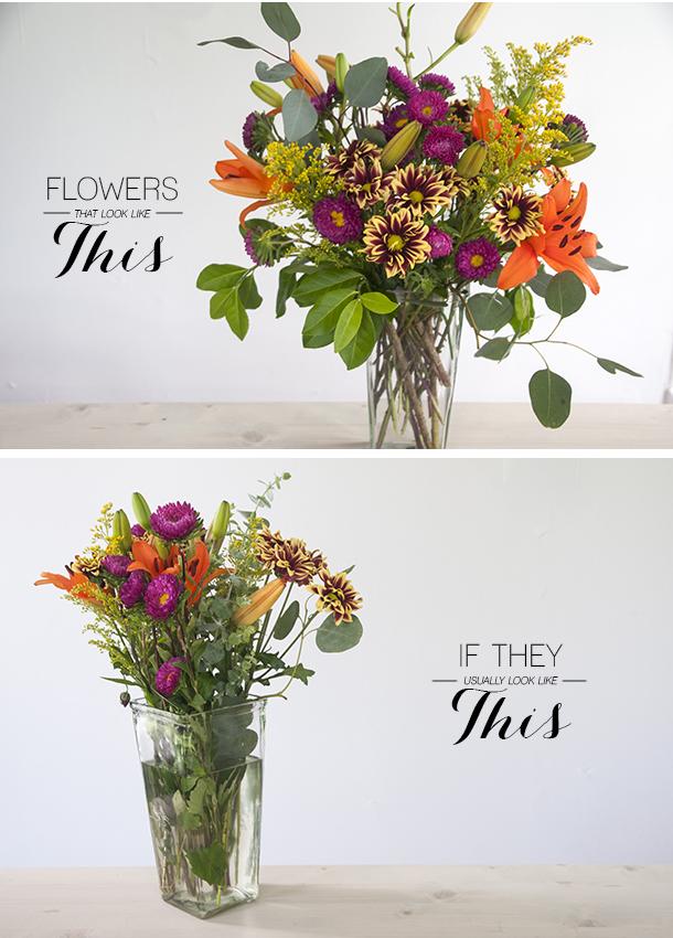 Truco para hacer el arreglo floral perfecto paso a paso - Como hacer un ramo de flores artificiales ...