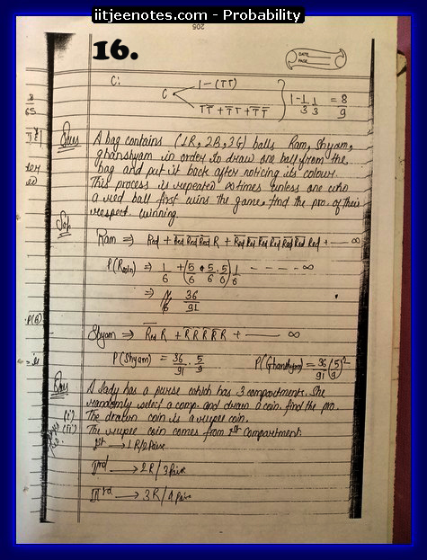 probability notes cbse6