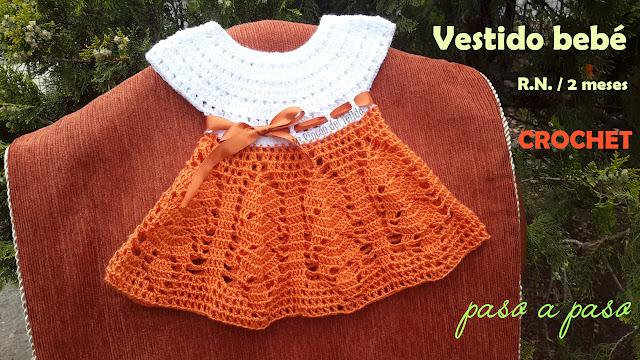 5d8f5dfbb Como tejer VESTIDO BEBE RECIEN NACIDA CROCHET - How to CROCHET BABY NEWBORN  DRESS step by step