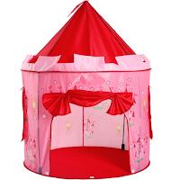 Une toile de tente en forme de château de princesse