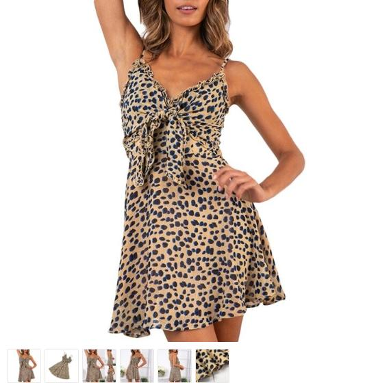 Fall Clothes For Womens On Sale - Fashion Clothes Sale - Blue And Tan Dress