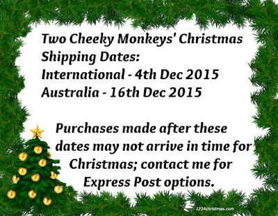 christmas shipping cutoff dates two cheeky monkeys