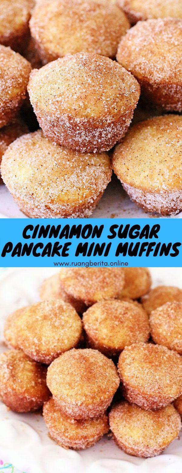 Cinnamon Sugar Pancake Mini Muffins #breakfast #snack #glutenfree #cinnamon #sugar #pancake #mini #muffin