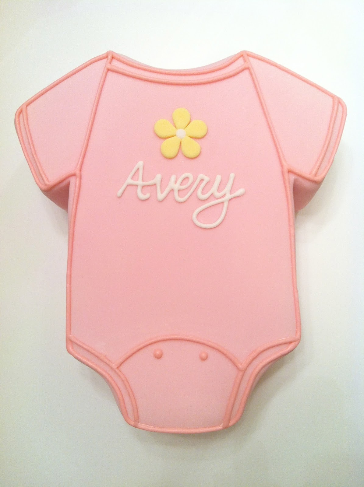Onesie Template For Baby Shower Cake