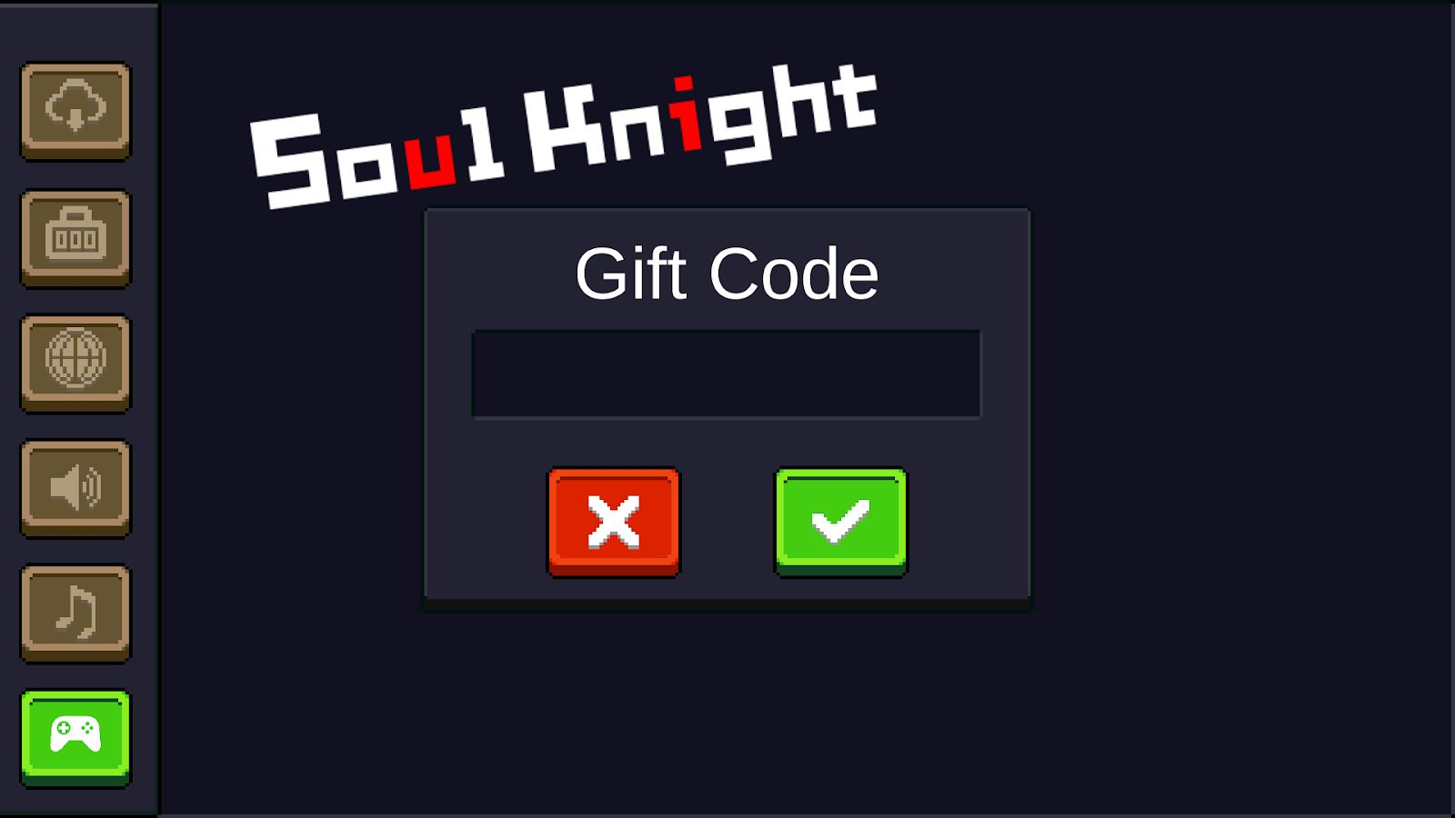 How to enter codes on Soul Knight