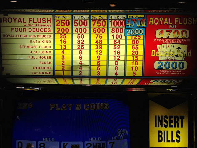 Downtown Deuces Wild Video Poker Paytable El Cortez