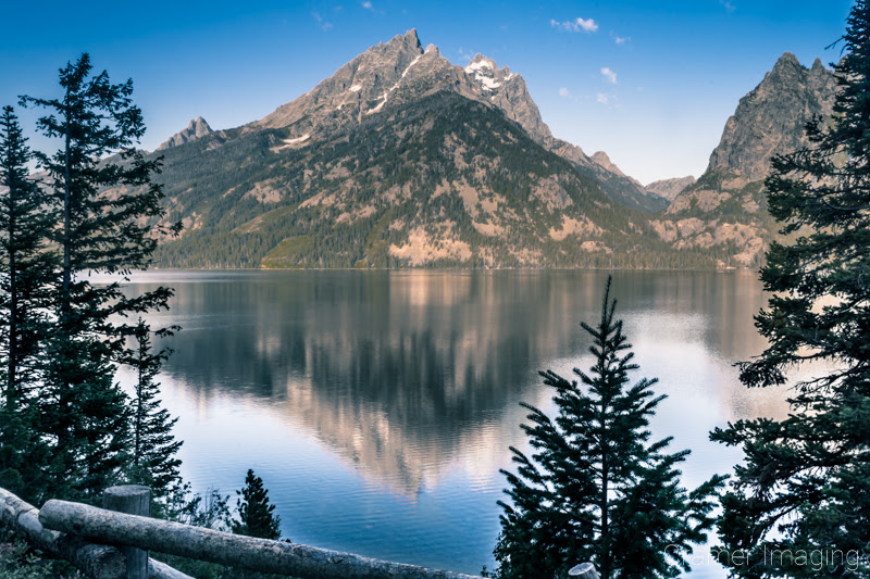 Cramer Imaging's quality landscape photograph of Jenny Lake at twilight in Grand Teton National Park Wyoming