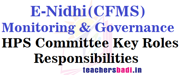 E-Nidhi(CFMS),Monitoring,Governance Committee
