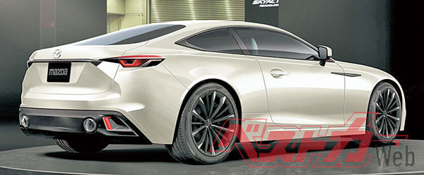 burlappcar  2021 mazda6 coupe illustration