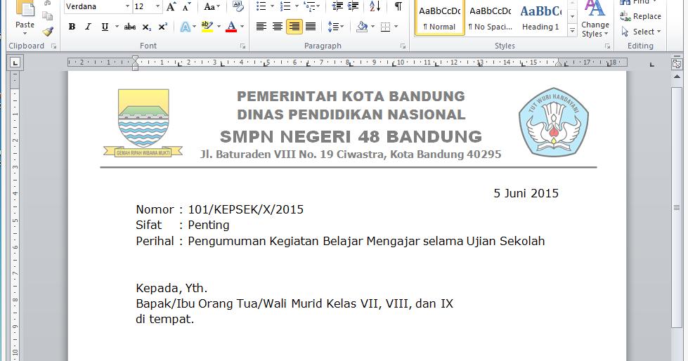 Contoh Format Surat Edarandocx