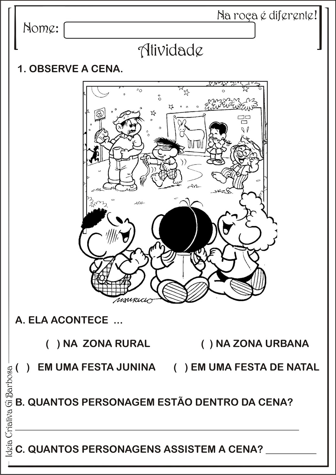 Atividade Interdisciplinar Educacao Infantil Festas Juninas