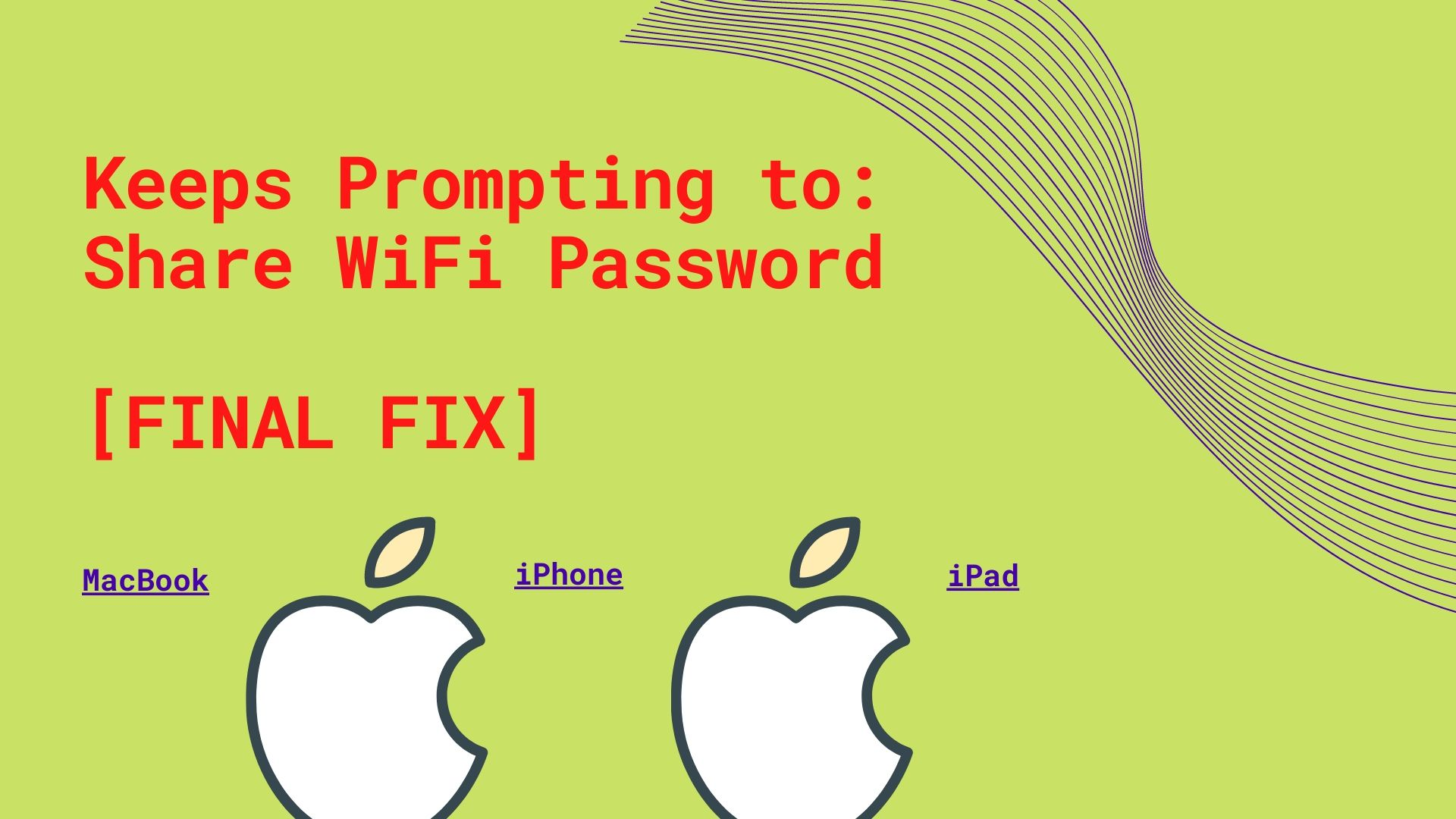 Keeps Prompting to Share WiFi Password FIX